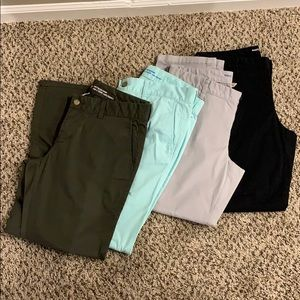 4 pairs of Khakis by GAP